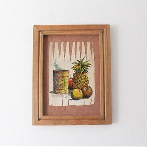 VINTAGE Original Corn Husk Painting Artwork Mexico